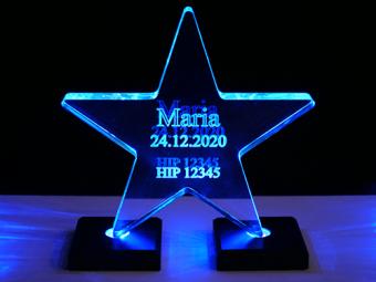 Estrella de acrílico (iluminada)