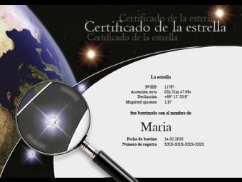 Certificado con cristales Swarovski®