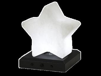 Estrella de cristal de sal